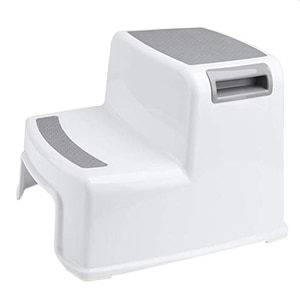 New Wide+2 Step Stool For Kids Toddler Stool For Toilet Potty Training Slip Resistant Soft Grip For Safe As Bathroom Potty Stool