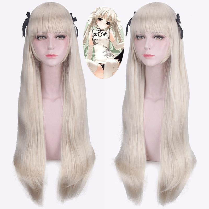 Yosuga No Sora in Solitude Sora Kasugano Cosplay Wigs 100cm Long Straight Synthetic Hair Halloween Party Costume Wig Perucas