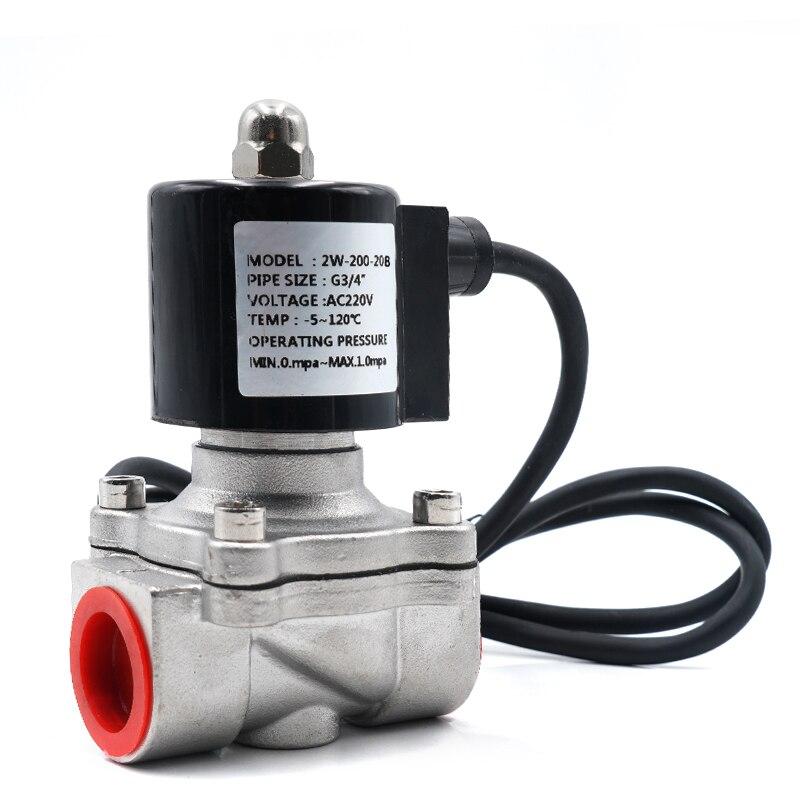 Válvula de agua, válvula solenoide impermeable, fuente de acero inoxidable 304 bajo el agua válvula normalmente cerrada, acción directa IP68 (NC)
