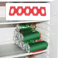 red silicone fridge can beer wine bottle rack holder mat stacking tidy tool kitchen gadgets silicone can holder mat organizer