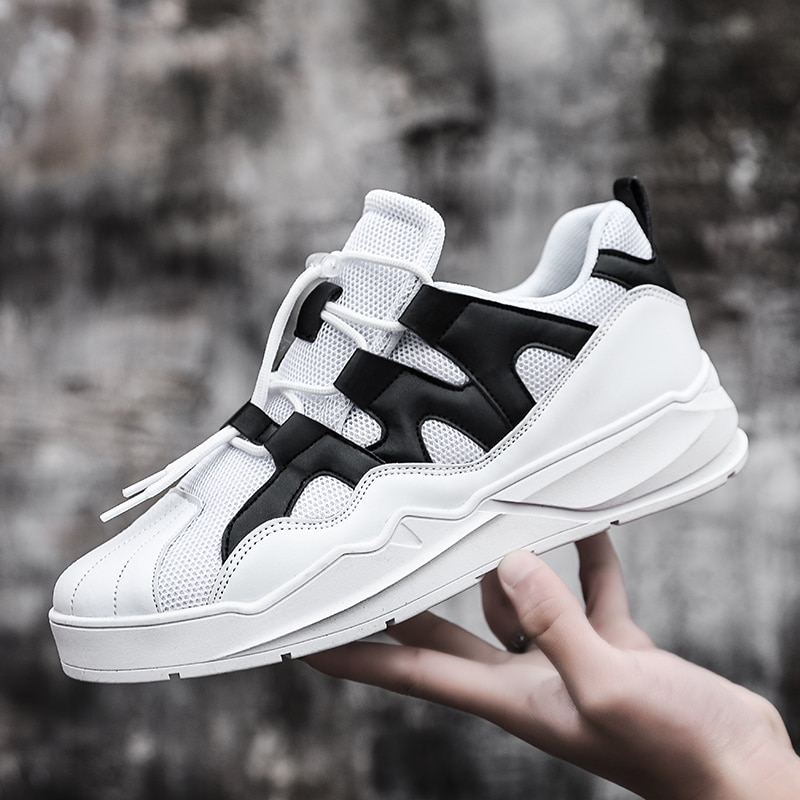 Summer Breathable Casual Shoes For Men Lightweight Walking Shoes Sneakers Men Newest Lace Up Running Sport Footwear Comfortable men running shoes retro trend sneakers breathable outdoor walking sport canvas shoes for male lace up casual shoes bubble