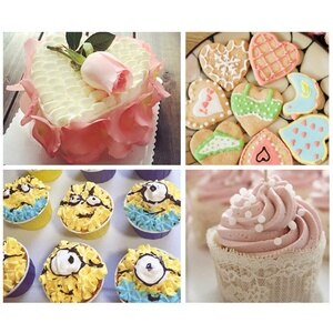 cake nozzle rossette piping Stainless Steel Flower Mouth Icing Cake Piping Tips Nozzles Russian Decorating Mouth Kit 1