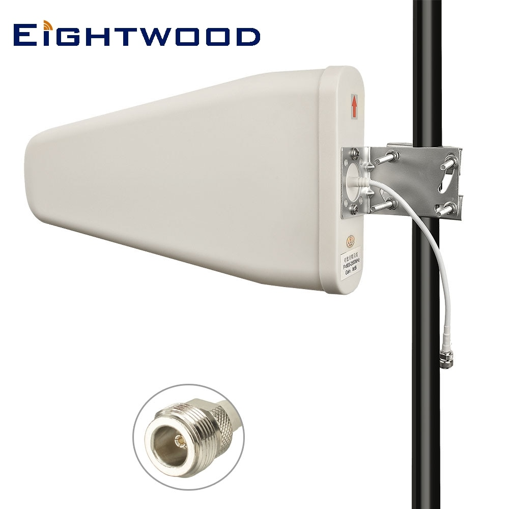Antena aérea direccional de montaje fijo Universal eitwood Yagi de alta ganancia 3G/4G/LTE/xLTE/Wi-Fi (700-2700 MHz) 11 dBi