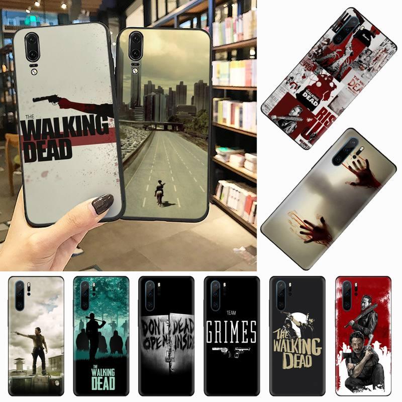 El caminar muerto EE. UU. Bling caja del teléfono para Huawei P 9 8 10 40 Mate 30 Honor 8 8A 20 20s 9x nova 6se 5t Y9s PSMART lite pro 2017