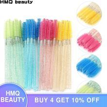 Eyelash Extension Disposable Crystal Eyebrow Brush Mascara Wands Applicator Lash Cosmetic Brushes Beauty Makeup Tool