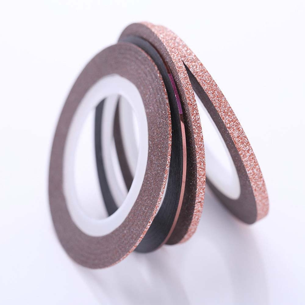 4pcs Nail Striping Tape Lines Coffee Matte Glitter Nail Striping Tape Adhesive Stickers Manicure Decor 1mm2mm3mm