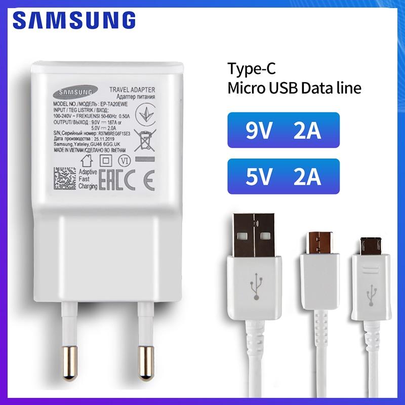 SAMSUNG Tablet cargador para SAMSUNG Tab T555C P550 T805 P5200 Tab3 TAB 10,1 4 8,0 T530 T535 C9 Pro A70 tipo C Cable USB A Micro USB