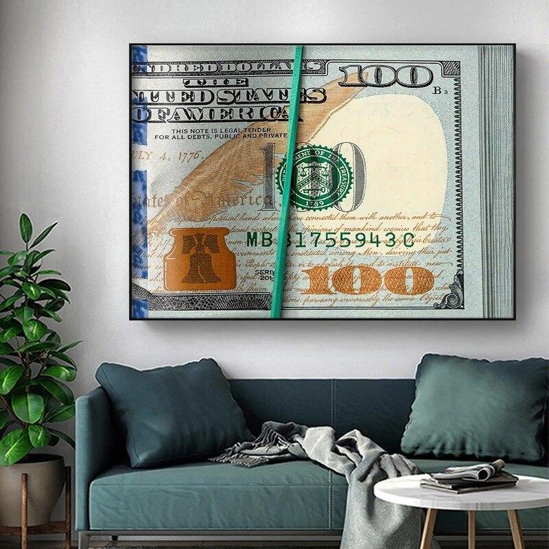 Новые холщовые постеры, современные настенные постеры с монетами, Картина на холсте, постеры и фотообои для украшения гостиной и дома