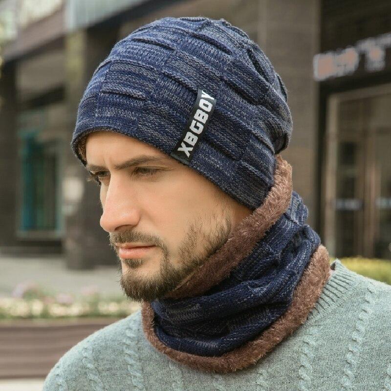 Boina sombreros de invierno para hombre y mujer de conjunto de bufanda...