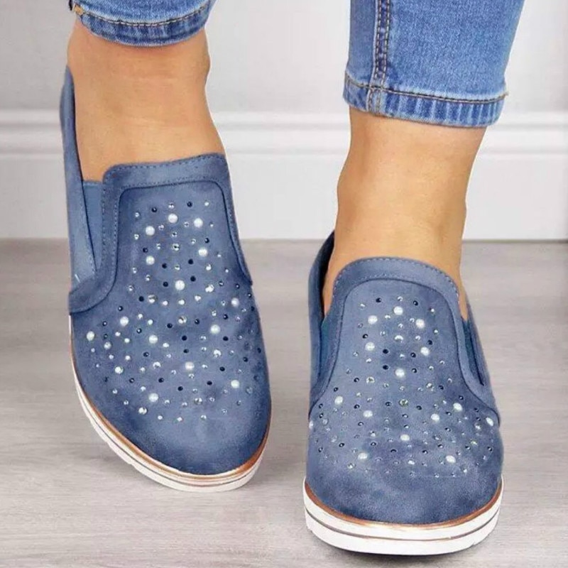 Crystal Flock Slip-on Women Vulcanize Shoes Woman Sneakers Female Chunky Casual Shoes for Women Shoe Spring/Autumn