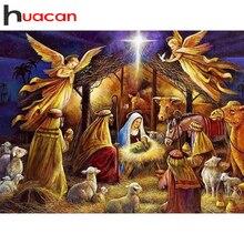 Huacan 5D diamant peinture pleine carré perceuse Religion diamant broderie anges bébé point de croix strass diamant mosaïque cadeau