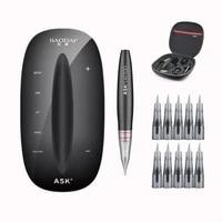 permanent makeup tattoo machine kits professional digital tattoo machine eyebrow lip pen machine sets with 10pcs needles