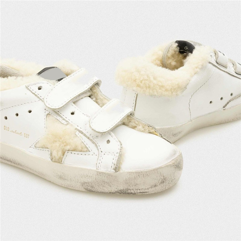 Autumn and Winter New Lamb Hair Children's Old Small Dirty Shoes Parent-child Casual Velcro Kids Fashion Sneakers CS190 enlarge