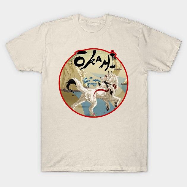 Camiseta masculina okami amaterasu camiseta feminina