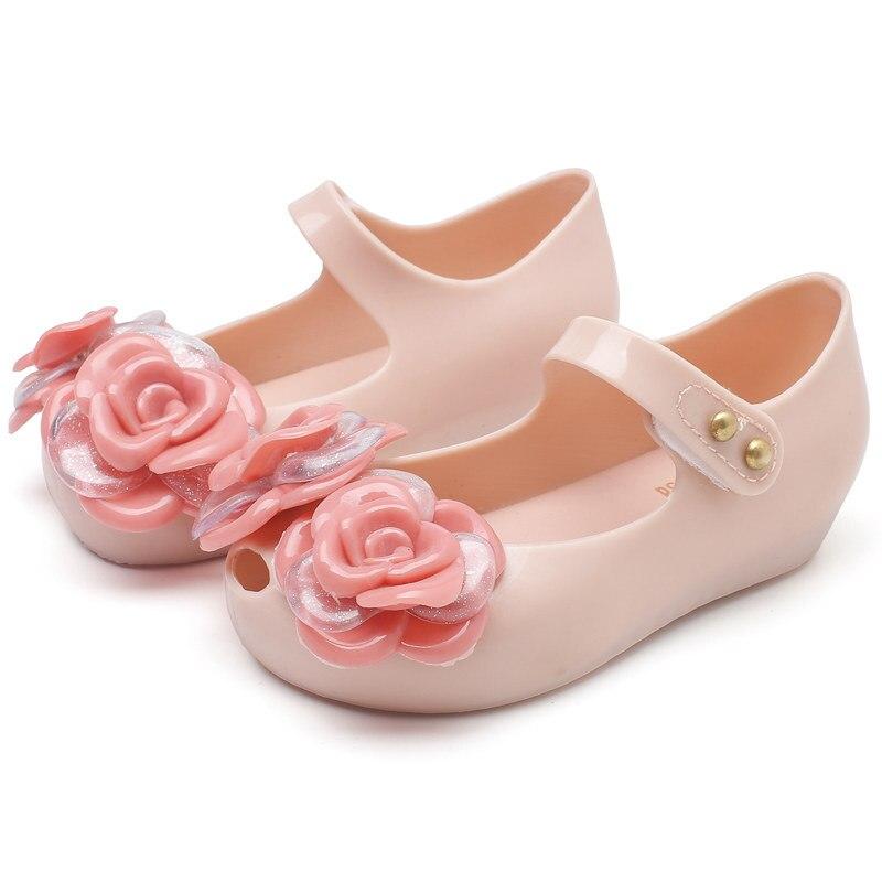 Sandalias Mini Melissa para niñas, sandalias de verano 2020 con diseño de gemelos, sandalias de goma para niñas, sandalias antideslizantes para niños pequeños