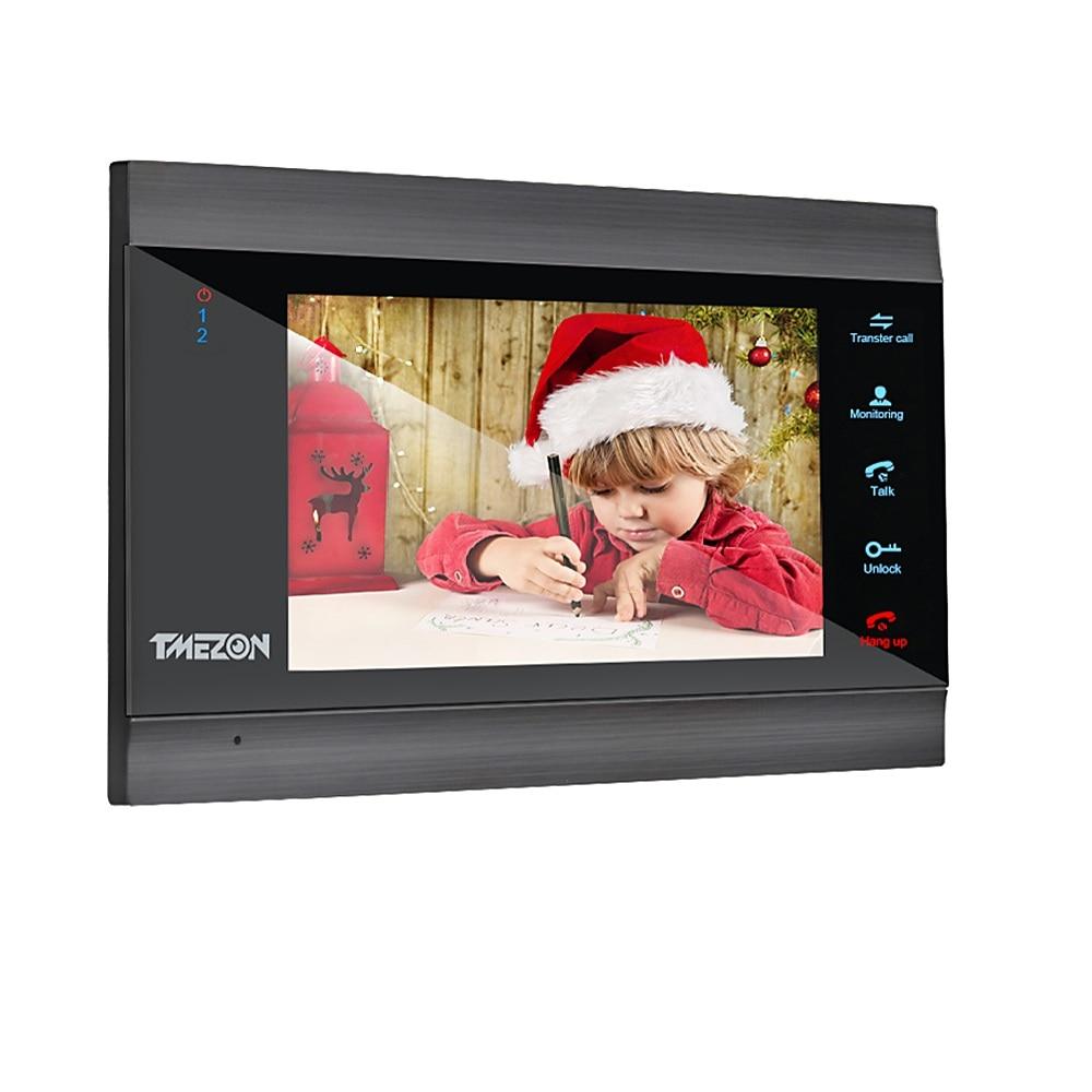 TMEZON-شاشة IP جرس الباب بالفيديو ، (تحتاج إلى العمل مع وحدة خارجية ، لا يمكن شراؤها بمفرده)