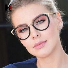 SHAUNA mode couleurs mélangées oeil de chat lunettes cadre femmes rétro myopie lunettes pour femme