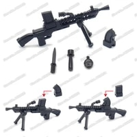 military weapons ww2 czech zb 26 light machine gun assemble building block army soldier model figures accessories child gift toy