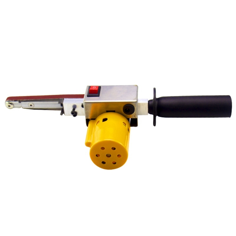 GTBL Handheld Electric Belt Sander Mini Sanding Machine Angle Grinder with Sanding Belt for Sanding Polishing Micro- Polishing M