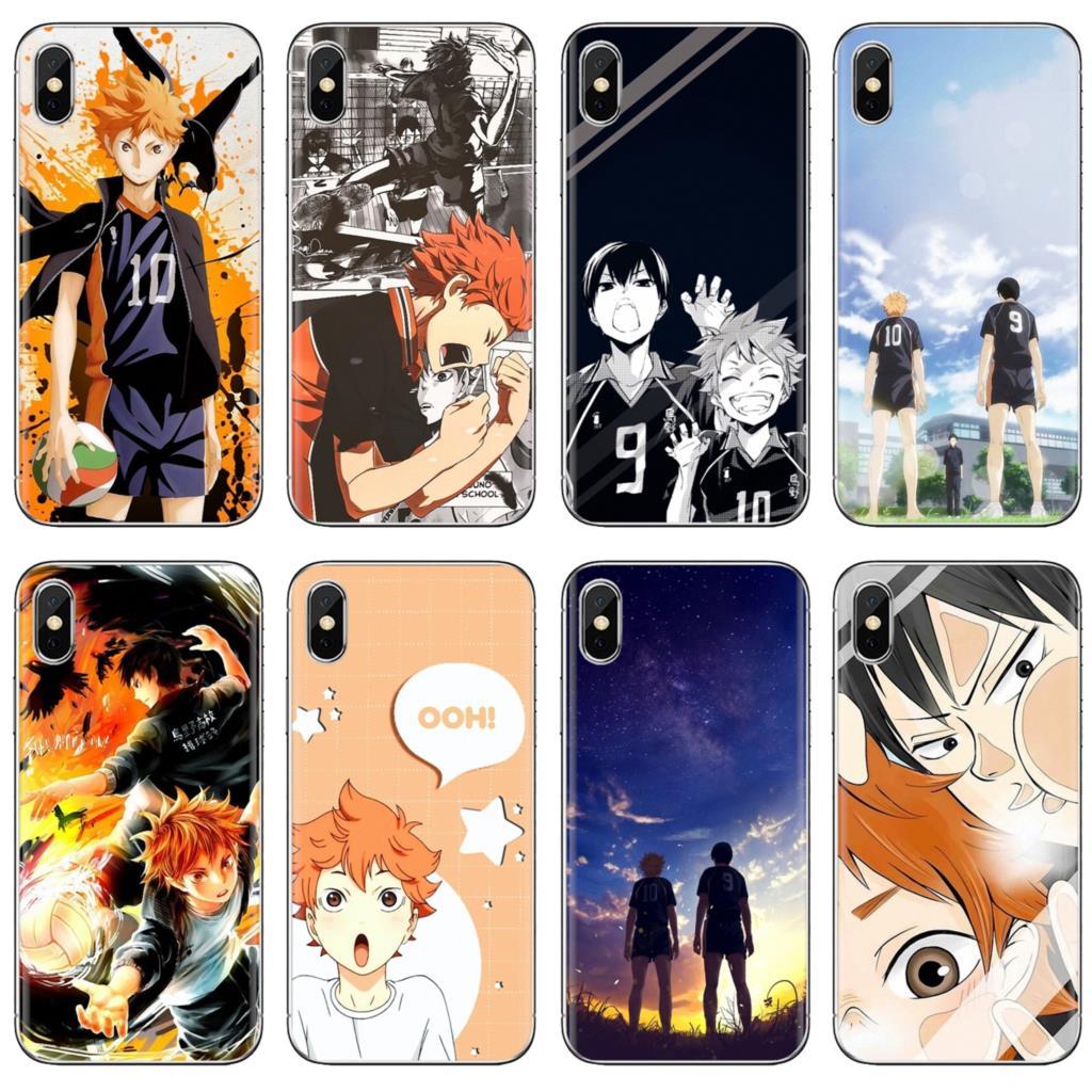 Para xiaomi Redmi 4A 7A S2 Nota 8 3S 3S 4 4X 5 Plus 6 7 6A Pro teléfono móvil F1 haikyuu hinata ataques Anime funda de móvil suave de tpu