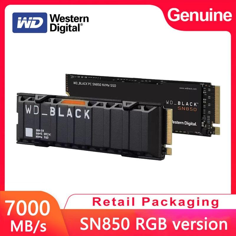 [해외] 웨스턴 디지털 WD 블랙 SN850 500G 내장 솔리드 스테이트 드라이브 M2 2280 PCIe4.0 게임 NVMe 1T SSD Gen4 호환 PS5 2T