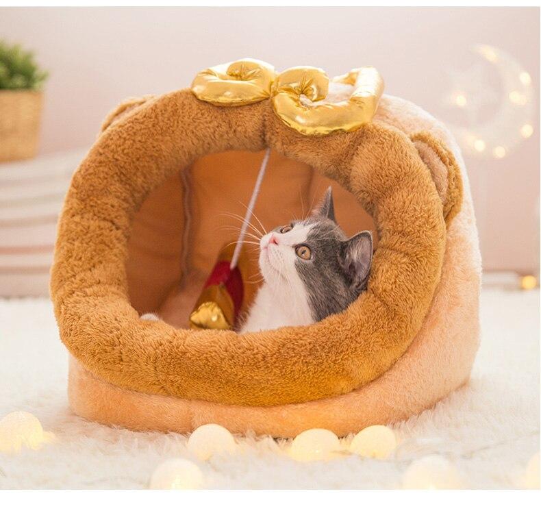 Saco de dormir suave cama para pequeño midio grande invierno gato perro cálido gato cueva para perros y gatos mascotas camas y casas nuevo II50GW