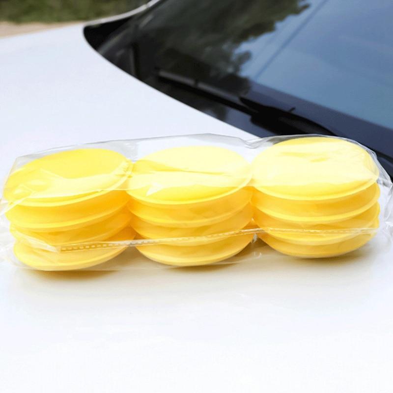 12Pcs/Set Car Polishing Waxing Foam Sponge Applicator Pads Auto Window Body Paint Surface Care Cleaning Pad Car Accessories недорого