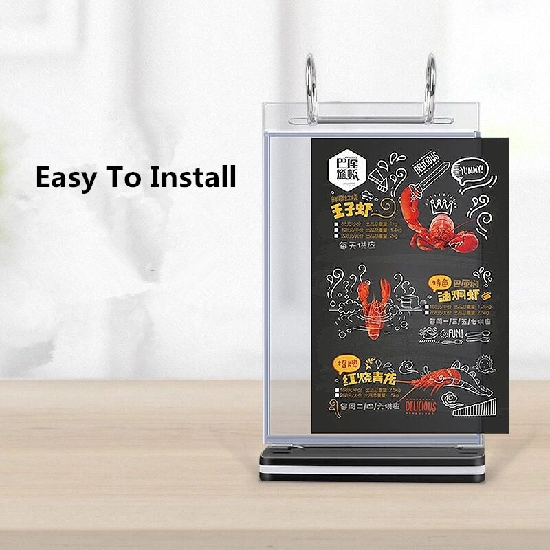 A5 Restaurant Store Equipment Countertop Acrylic Price Sign Holder Stand Table Menu Poster Stand Picture Photo Frame недорого