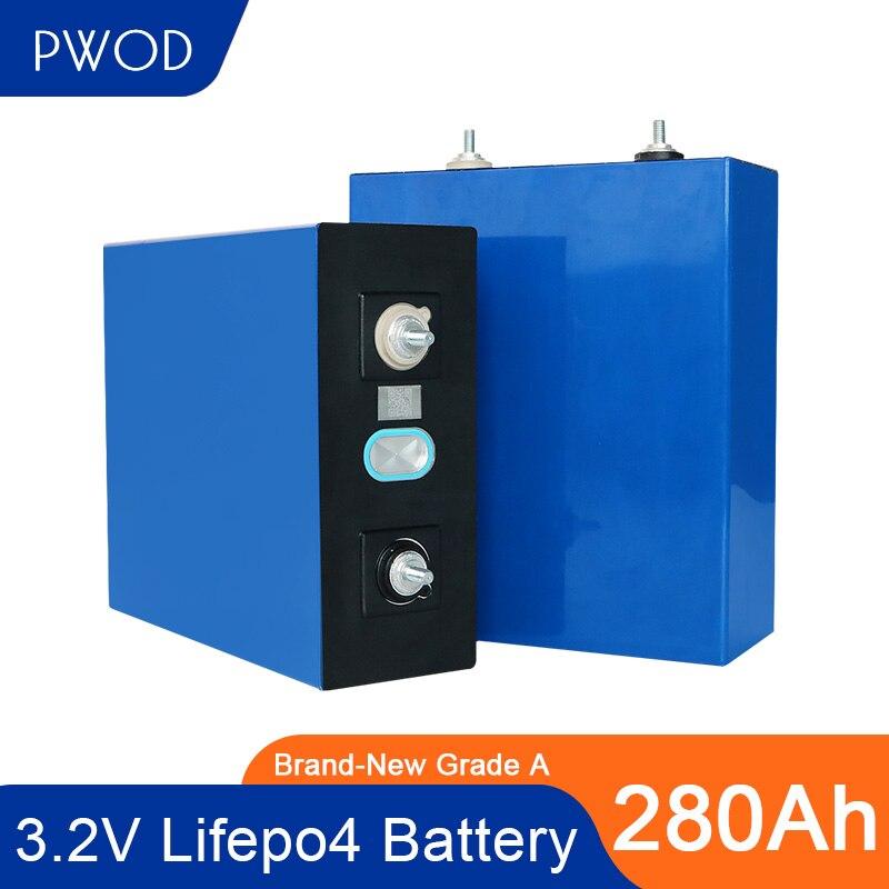 PWOD جديد 3.2 فولت 280Ah lifepo4 بطارية 4-32 قطعة الصف بطارية أيون الليثيوم فوسفات لتقوم بها بنفسك بطارية حزمة RV الاتحاد الأوروبي الولايات المتحدة معفاة...
