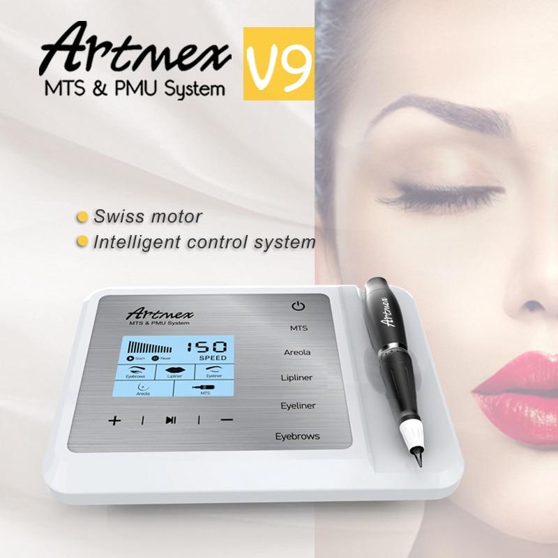 Машина для перманентного макияжа artmex v9 с косметической цифровой татуировкой