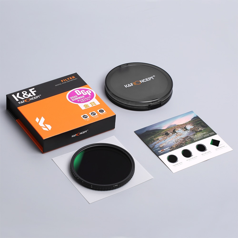 K&F Concept 77mm Fader ND Filter Without Cross, Neutral Density Variable Filter ND2 to ND32 for Camera Lens enlarge