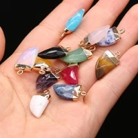 2pcs natural agates stone pendant charms knife shape pendant for women jewelry necklace gift wholesale size 10x22mm