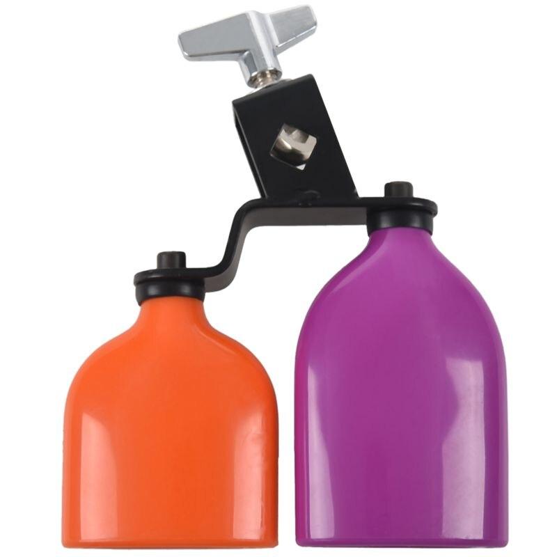 Naranja y morado campana de vaca campana de madera pescado campana de ganado para Cheers Juegos Deportivos boda vaca campana batería instrumentos de percusión