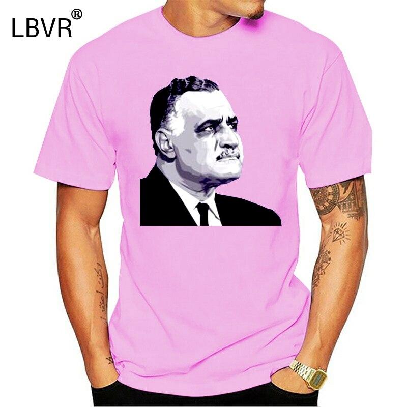 Gamal Abdel Nasser Egipto árabe revolución hombres divertidas camisetas Streetwear moda camisetas Cool Logo camiseta cráneo