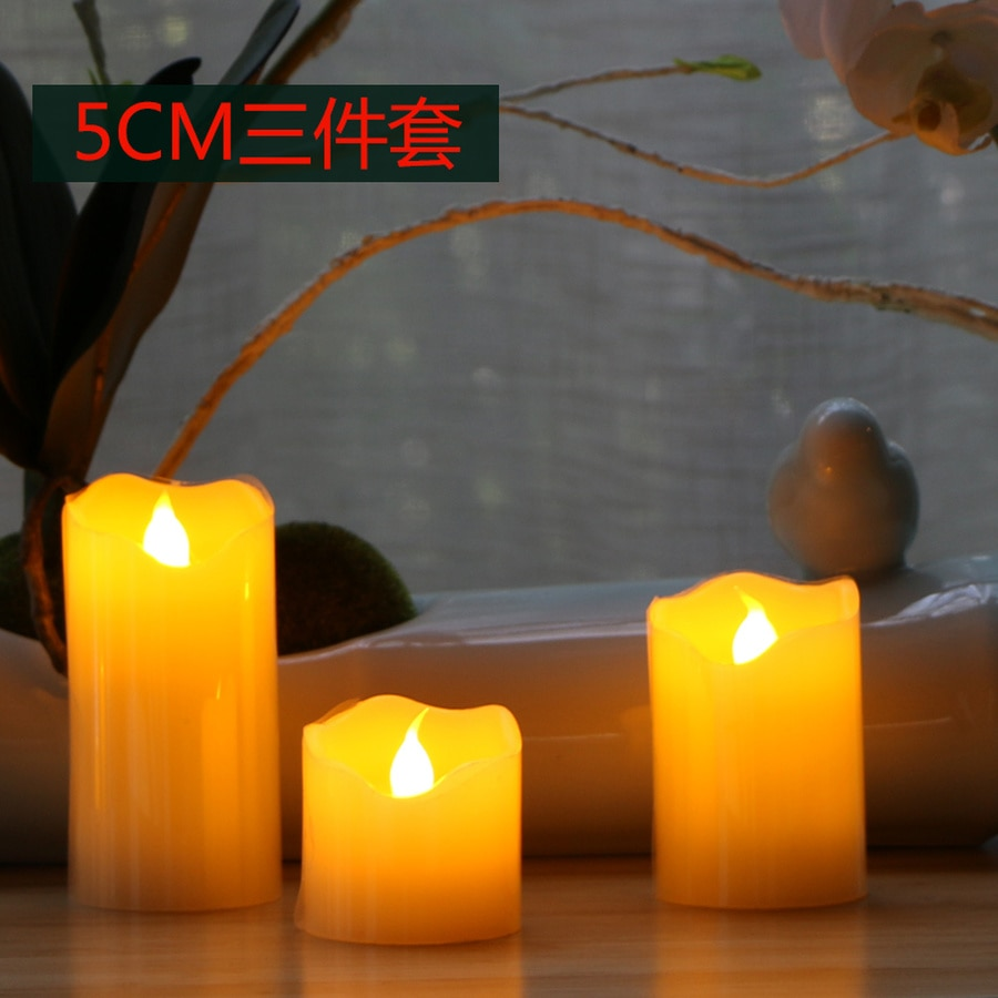 Velas de pilar de luminaria con vela LED remota velas Led con llama parpadeante Drijfkaarsen vela electrónica Pilar h50lz