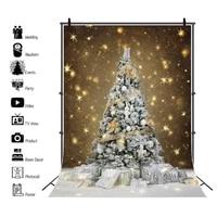 yeele christmas tree backdrop winter snow gold glitter light gift baby child portrait photo background photography photophone