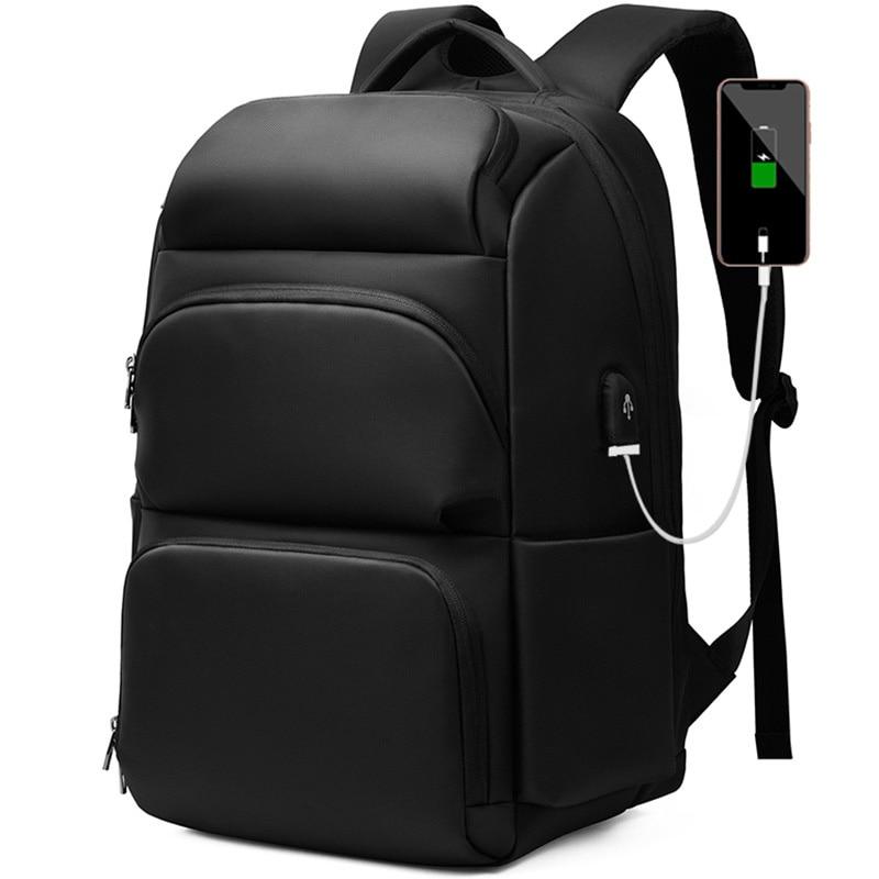 TSA-حقيبة ظهر مضادة للسرقة مع قفل للرجال والنساء ، حقيبة ظهر متعددة الجيوب مع شحن USB ، حقيبة سفر كبيرة السعة