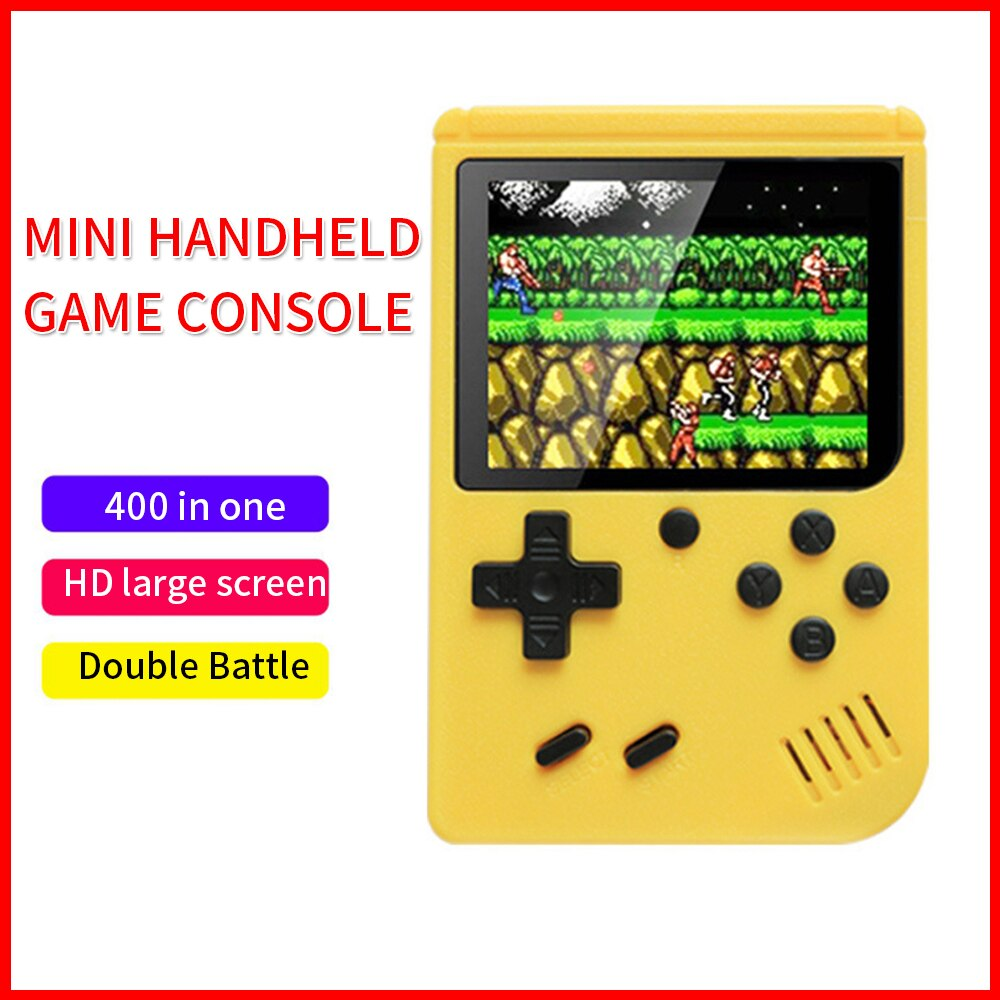 New Built-in 400 Games 1000mAh Battery Retro Video Handheld Game Console+Gamepad 2 Players Doubles 3.0 Inch LCD Game Player