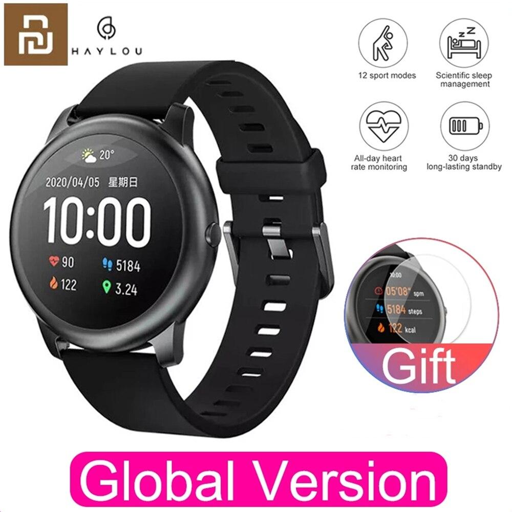 Monitor de Sono Ip68 à Prova Youpin Haylou Solar Relógio Inteligente Ls05 Esporte Metal Freqüência Cardíaca Dip68 Água Ios Android Versão Global