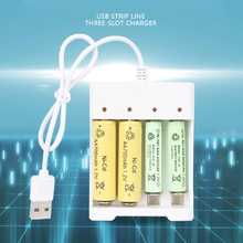 USB Fast Charging Battery Charger 2/3/4 Slots High Quality Short Circuit Protection AAA and AA Rechargeable Battery Station