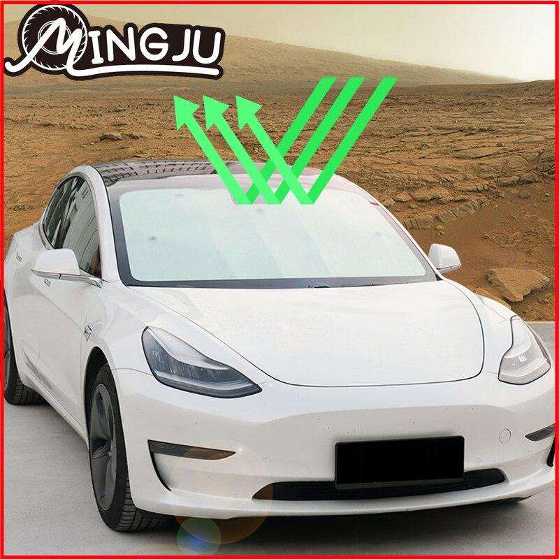 Солнцезащитный козырек для моделей 3, аксессуары для лобового стекла Tesla Model 3, защита от ультрафиолета, защита от ультрафиолета