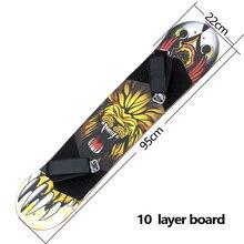 "9 ""x 37"" Berg Skateboard Deck 10 schicht Off Road Bambus Deck Longboard Bord Mit Fuß Halter Erwachsene skateboard Electrick Skate"