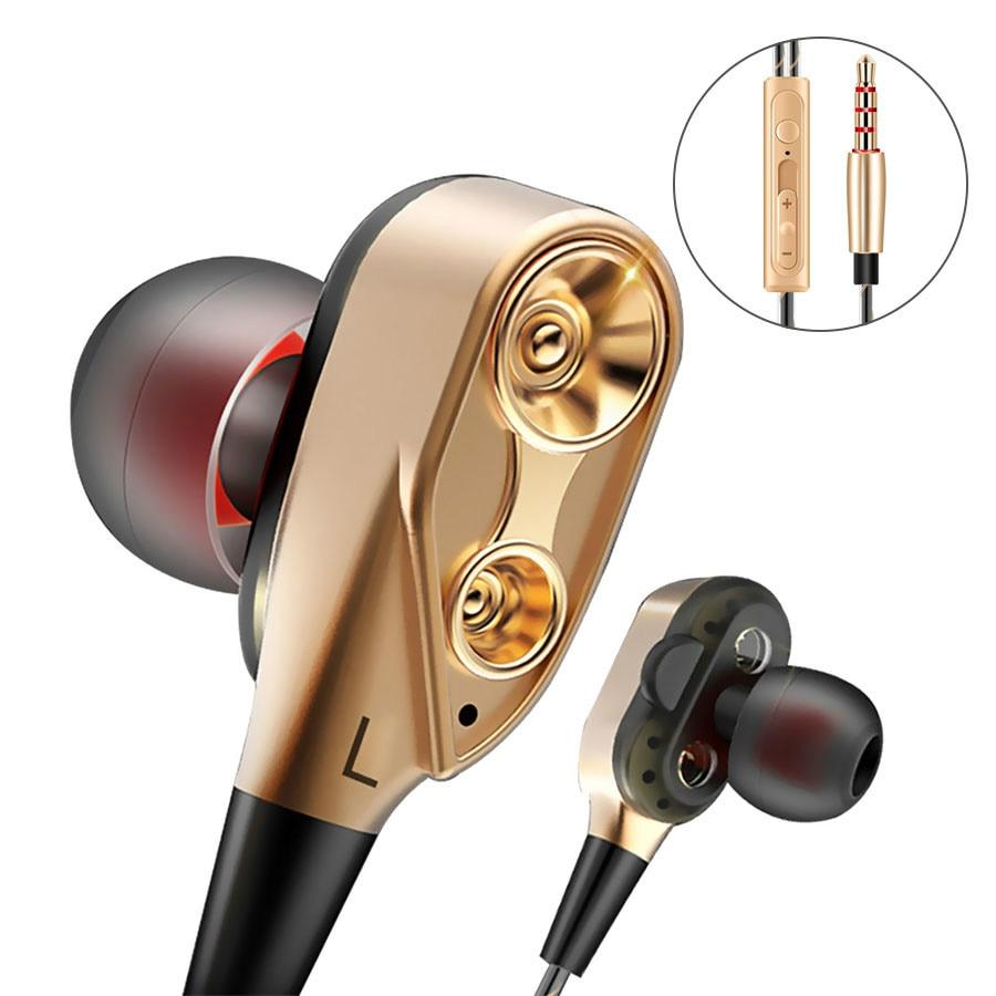 Hifi dispositivos auriculares Bass auricular para teléfono de juegos en la oreja auriculares deporte Auriculares auriculares con micrófono