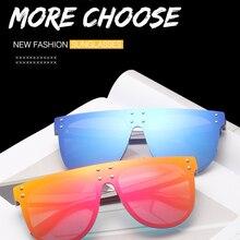 Sunglasses Women 2020 Wholesale Oversized Oval Sunglasses Women Luxury Brand Fashion Flat Top Lens O