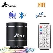 Bluetooth Vibration haut-parleur Adin télécommande Portable FM Radio sans fil haut-parleur 20w colonne basse ordinateur haut-parleurs pour téléphone