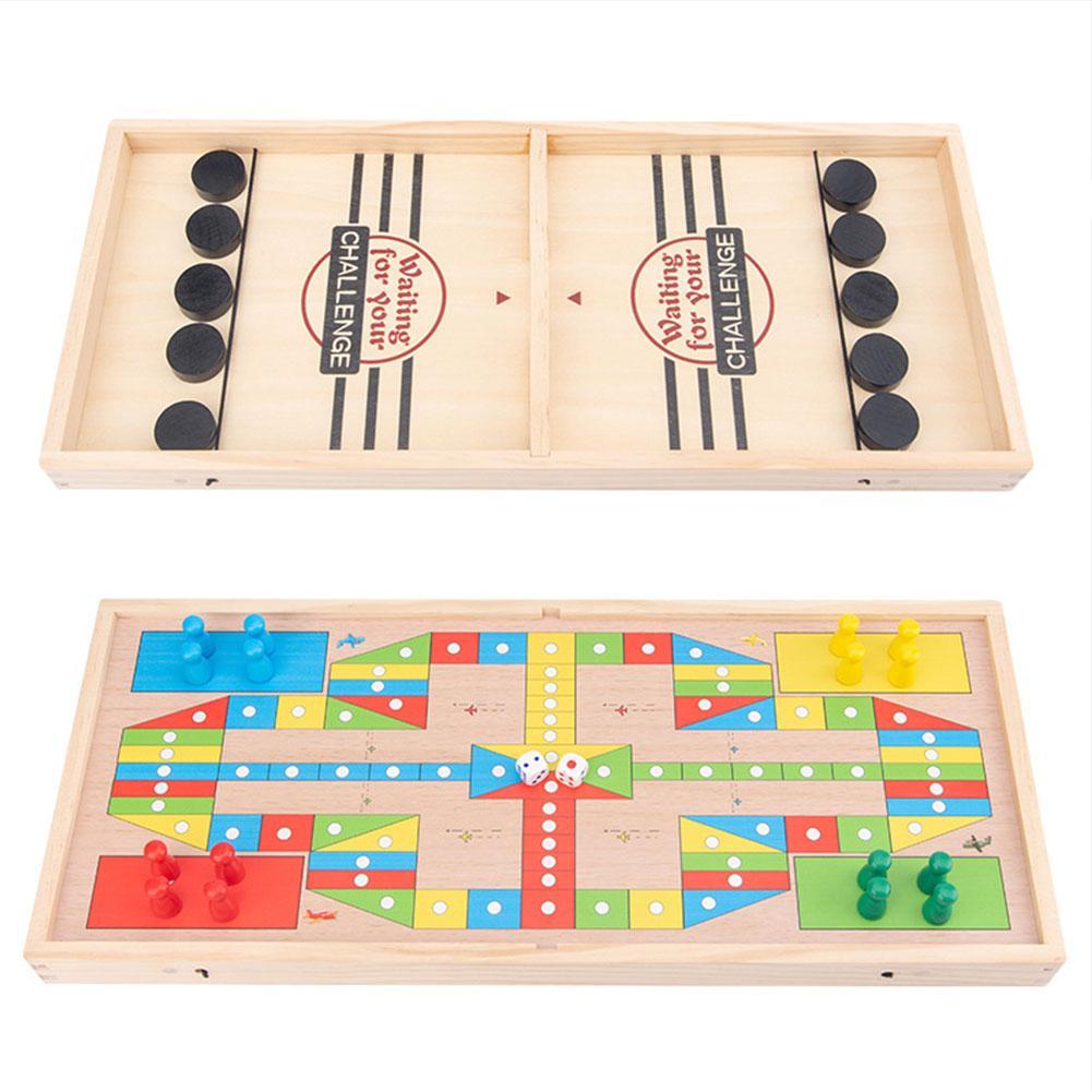 Катапульты шахматы бампер интерактивный 2-в-1 родитель-ребенок Взаимодействие катапульты настольная игра прыгающий шахматы стол хоккейная ...