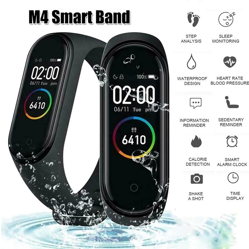 M4 Мужские Женские умные часы наручные часы женские Bluetooth умный Браслет водонепроницаемые спортивные часы умные часы с пульсометром Android
