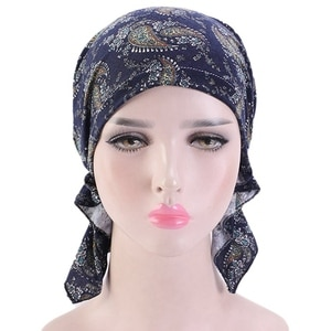 Pirate Headwraps Elastic Sleeping Hat Bonnet Ladies Hijabs Fashion Floral Headscarf Women Muslim Stretch Turban Hat