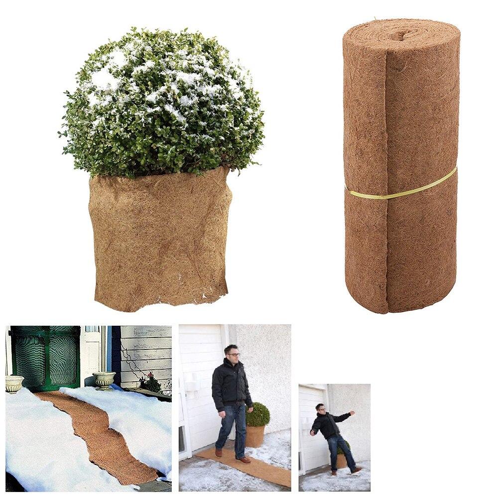 60*100cm Coco Lining Coconut Fiber Mat Flower Pot Hanging Basket Liner For Home Garden Decoration