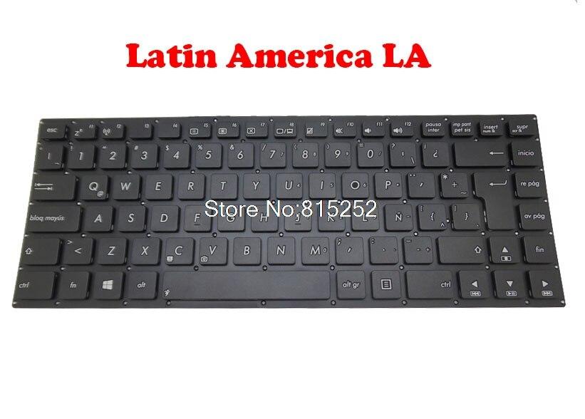 Teclado para portátil ASUS K46 K46C K46CA K46CB K46CM América Latina/REINO UNIDO/RU MP-12F36LA-920W 0KNB0-4106LA00